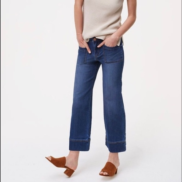 LOFT Denim - LOFT Wide Leg Cropped Jeans